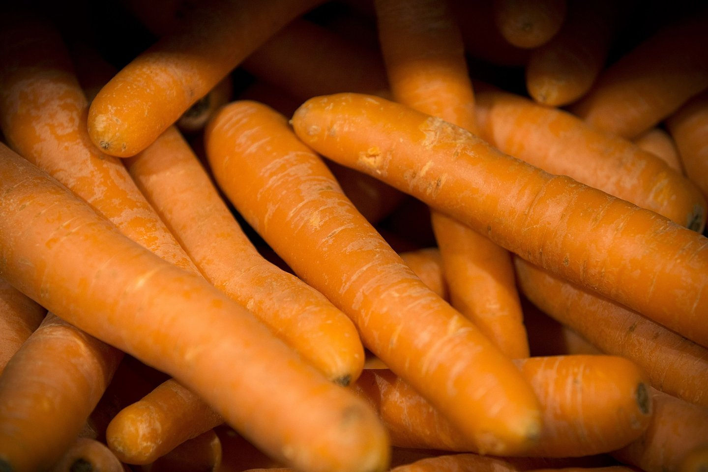 This picture taken on May 9, 2014 shows carrots on a supermar0ket display in Paris, France. AFP PHOTO /JOEL SAGET        (Photo credit should read JOEL SAGET/AFP/Getty Images)