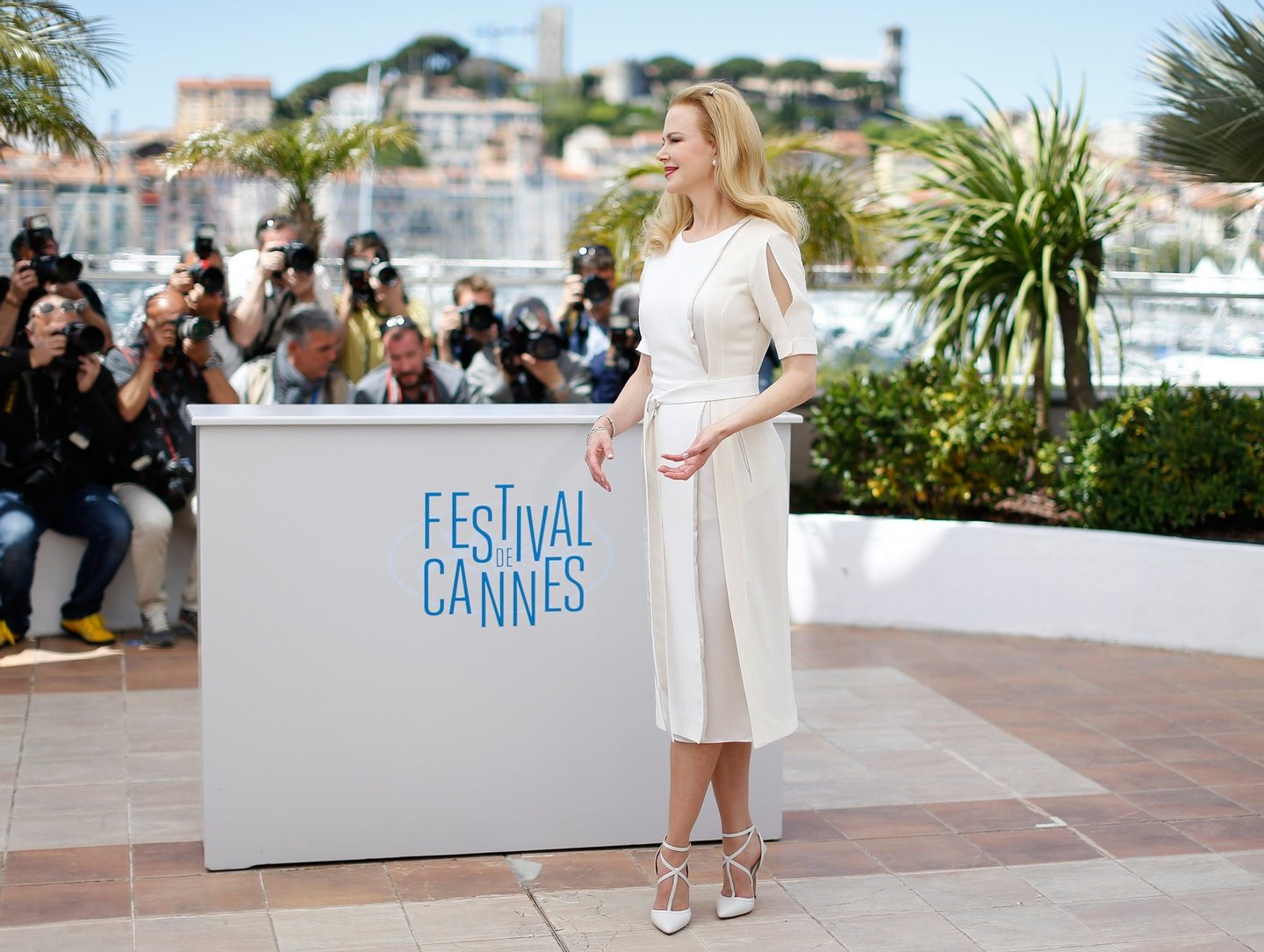 "Australian actress Nicole Kidman poses during a photocall for the film ""Grace of Monaco"" at the 67th edition of the Cannes Film Festival in Cannes, southern France, on May 14, 2014.   AFP PHOTO / VALERY HACHE        (Photo credit should read VALERY HACHE/AFP/Getty Images)"