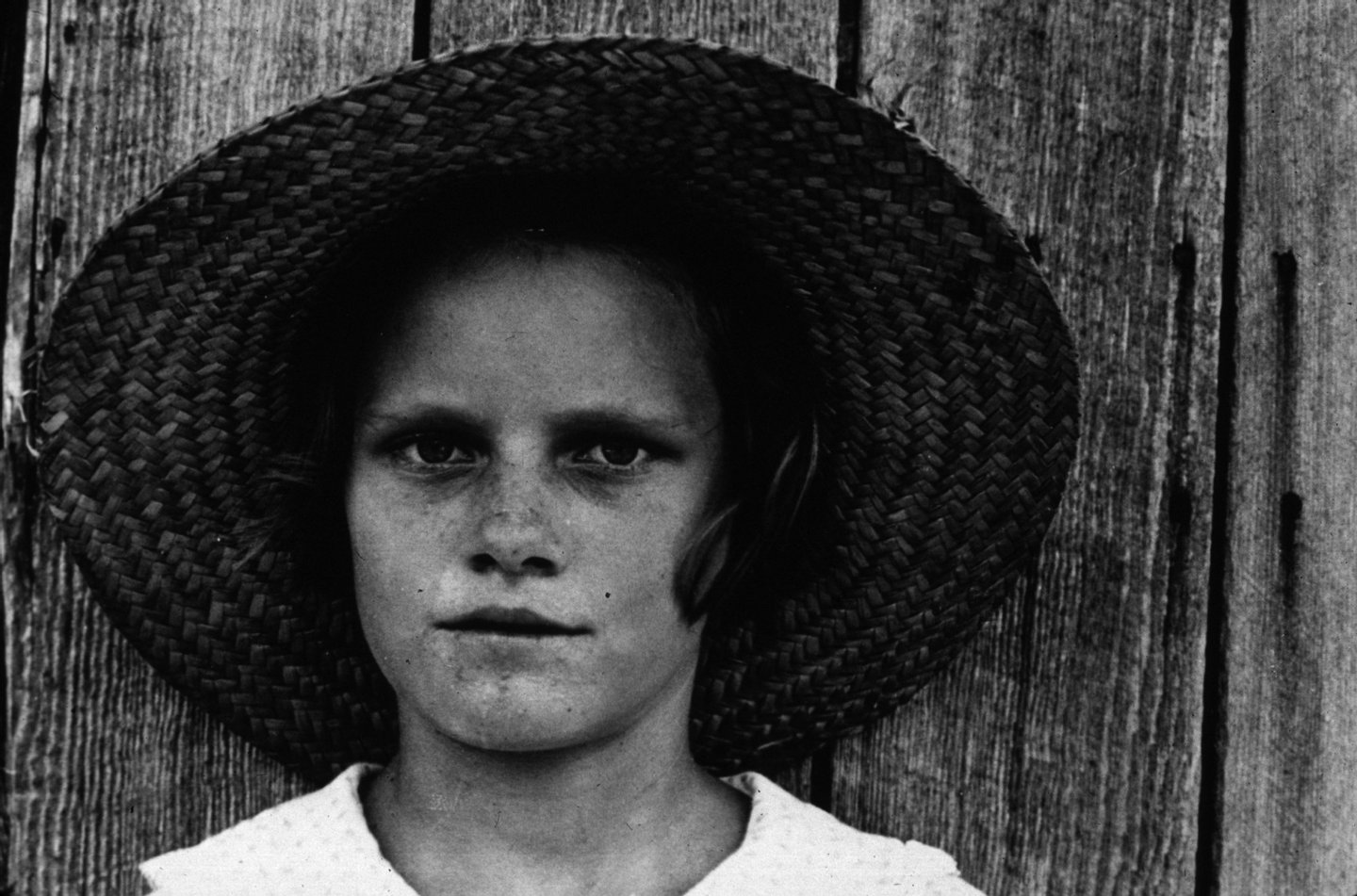 Lucille Burroughs, the daughter of a cotton sharecropper in Hale County, Alabama.   (Photo by Walker Evans/Getty Images)