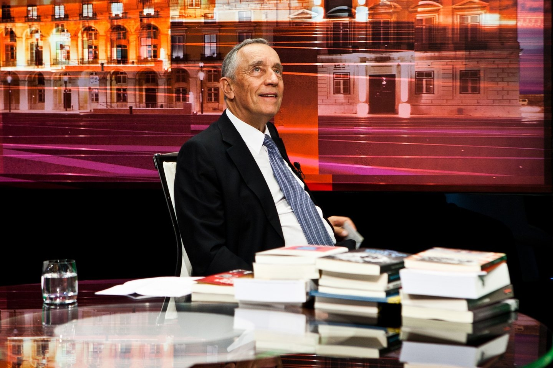 Bastidores do Jornal das 8 com Marcelo Rebelo de Sousa
