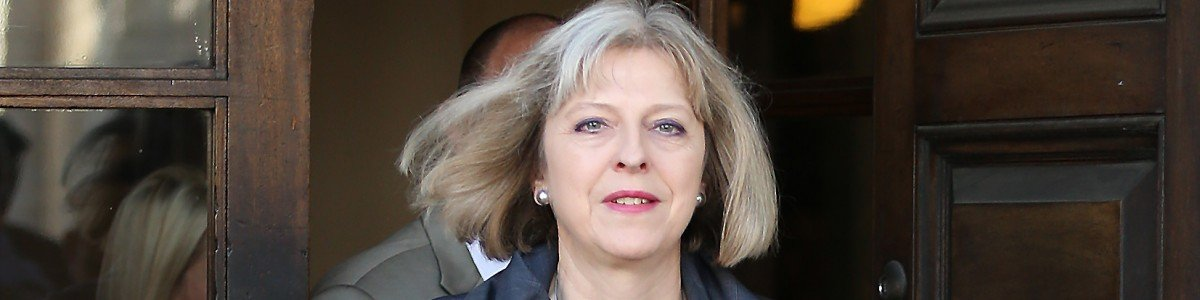 at the Royal United Services Institute (RUSI) on June 11, 2014 in London, England. RUSI are holding discussions on ways to counter organised crime with speeches by US Under Secretary for Terrorism and Financial Intelligence David Cohen and British Home Secretary Theresa May