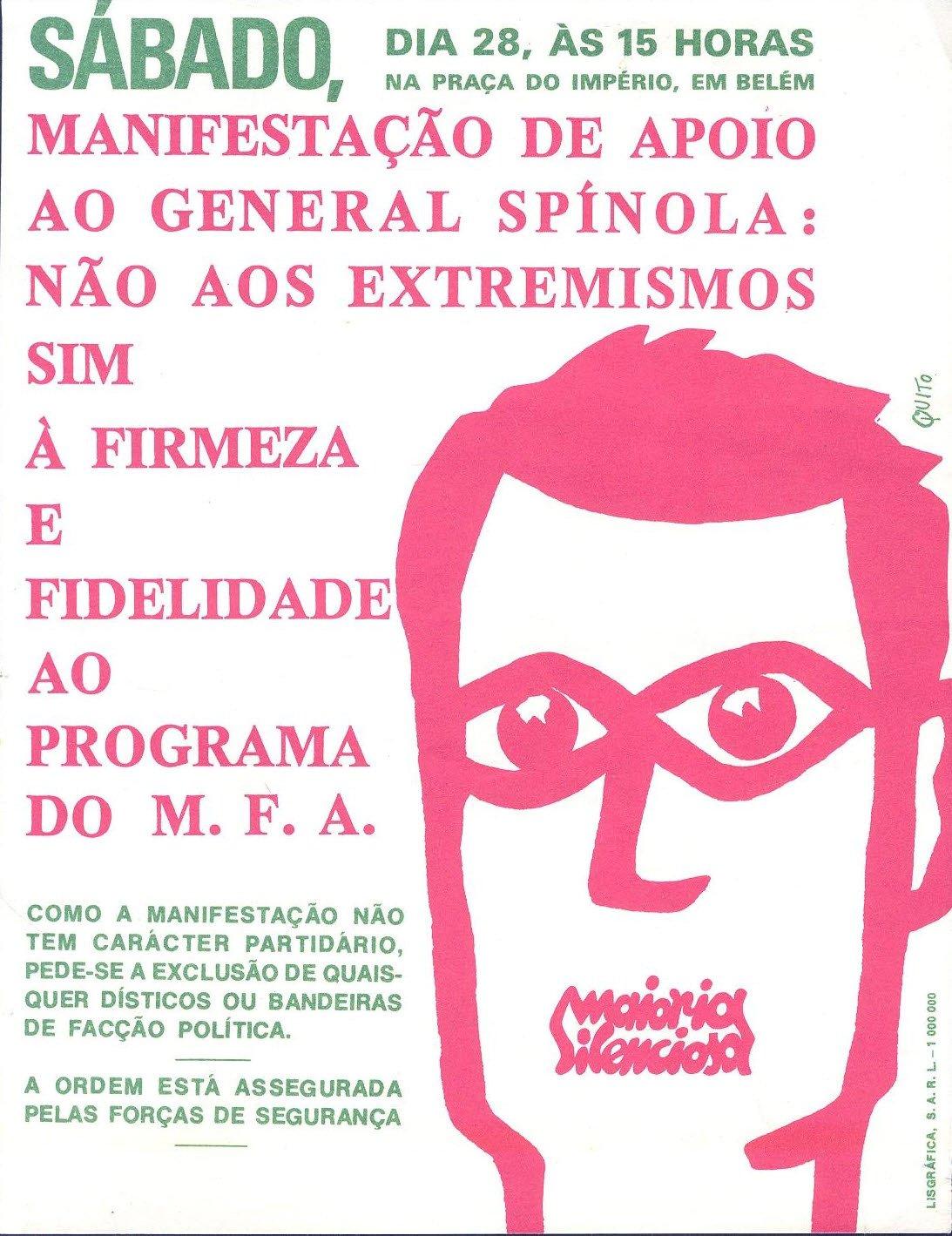 """O cartaz da manifestação da """"maioria silenciosa"""""""