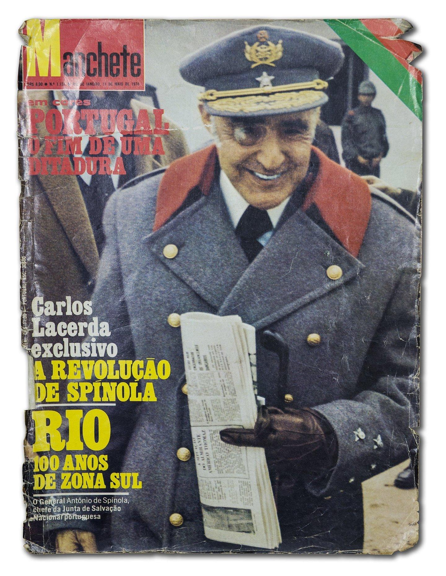 Capa da revista brasileira Manchete pouco depois do 25 de Abril