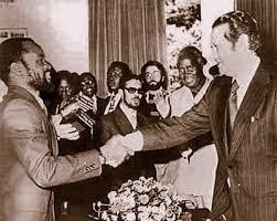 Mário Sores com Samora Machel em Lusaka