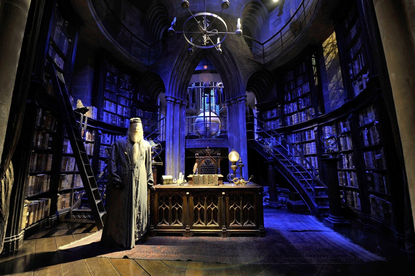 WATFORD, ENGLAND - MARCH 30:  A general view of Dumbledore's office on the set of Harry Potter at the Warner Bros. Studio Tour London - The Making of Harry Potter, at Leavesden Studios on March 30, 2012 in Watford, England  (Photo by Gareth Cattermole/Getty Images)