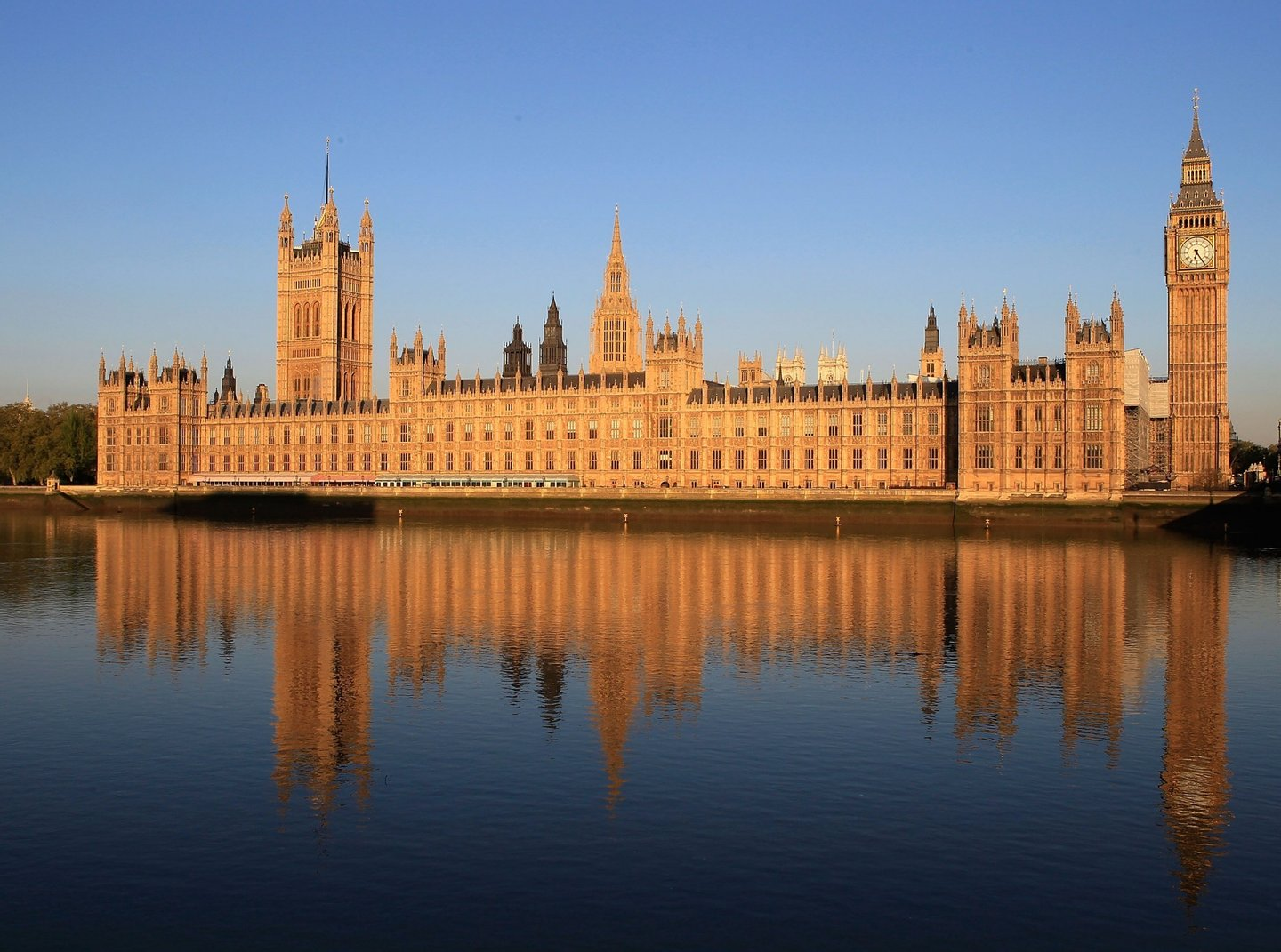 LONDON, ENGLAND - MAY 13: The Houses of Parliament are bathed in the early morning sunshine on May 13, 2010 in London, England. New Prime Minister David Cameron is holding his first full cabinet meeting today. (Photo by Christopher Furlong/Getty Images)