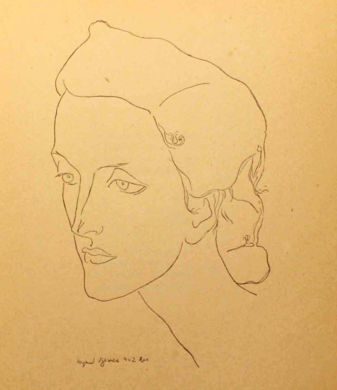 O retrato desenhado por Arpad Szenes, 1942