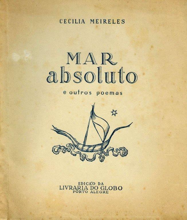 Edição de Mar Absoluto, com desenho de capa de Maria Helena Vieira da Silva