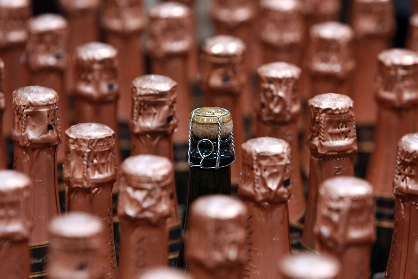 SOUTH SAN FRANCISCO, CA - DECEMBER 29:  Bottles of sparkling wine are seen on display at a Costco store December 29, 2008 in South San Francisco, California. As the economy continues to falter, sales of sparkling wine and champagne are down this year compared to a 4 percent surge from last year.  (Photo by Justin Sullivan/Getty Images)