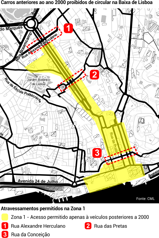 zonas de lisboa interditas a carros antigos mapa Afinal, que carros podem circular no centro de Lisboa? – Observador zonas de lisboa interditas a carros antigos mapa