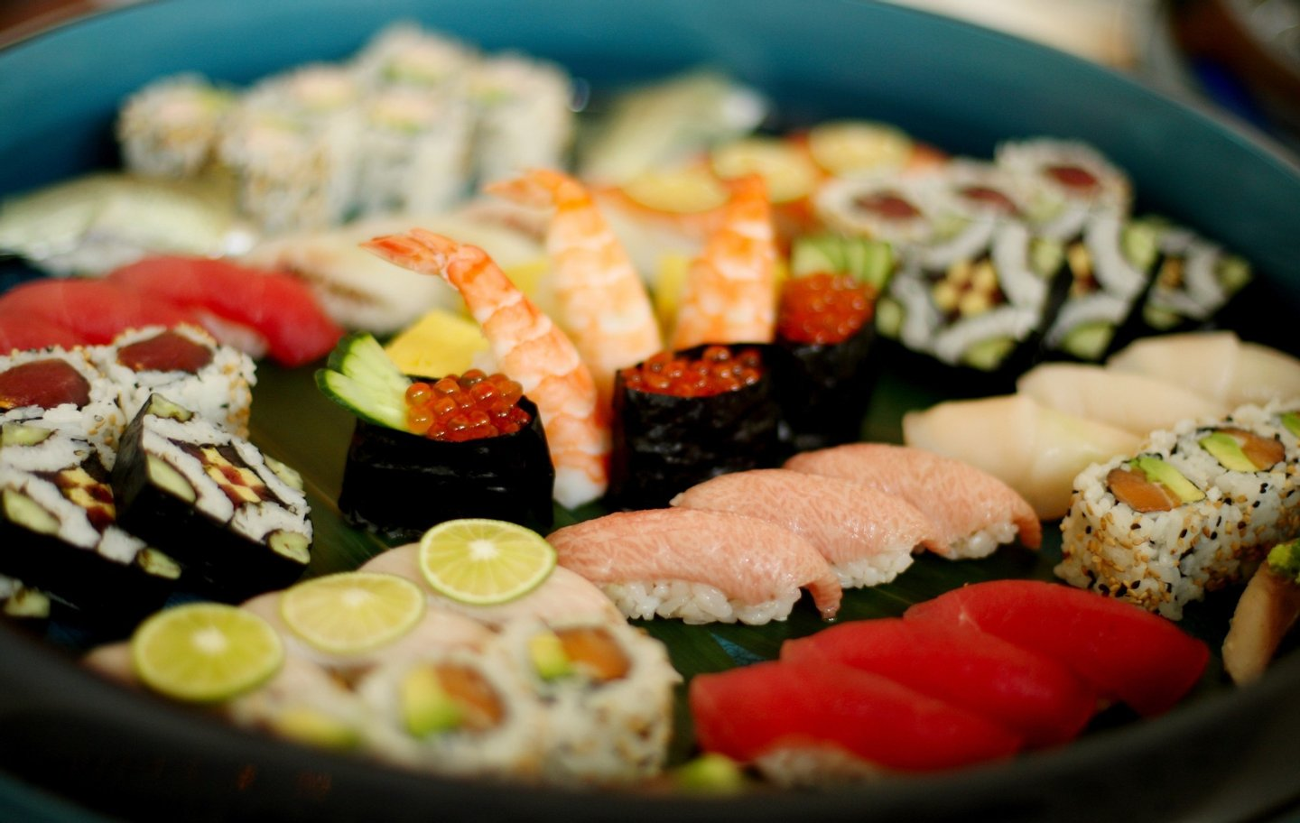 NEW YORK, NY - AUGUST 23:  Sushi is seen on a platter during a food tasting prior to the start of the 2012 U.S. Open at the USTA Billie Jean King National Tennis Center on August 23, 2012 in the Flushing neighborhood, of the Queens borough of New York City.  (Photo by Alex Trautwig/Getty Images)