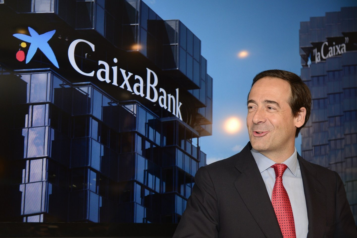 Spanish bank CaixaBank's new Chief Executive Officer Gonzalo Gortazar poses prior to a press conference announcing the 2014 first semester results in Barcelona on July 25, 2014. AFP PHOTO/ JOSEP LAGO (Photo credit should read JOSEP LAGO/AFP/Getty Images)