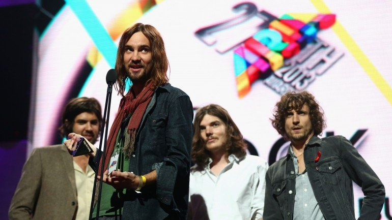 tame impala SYDNEY, AUSTRALIA - DECEMBER 01:  Tame Impala accept the award for 'Best Rock Album' during the 27th Annual ARIA Awards 2013 at the Star on December 1, 2013 in Sydney, Australia.  (Photo by Ryan Pierse/Getty Images)