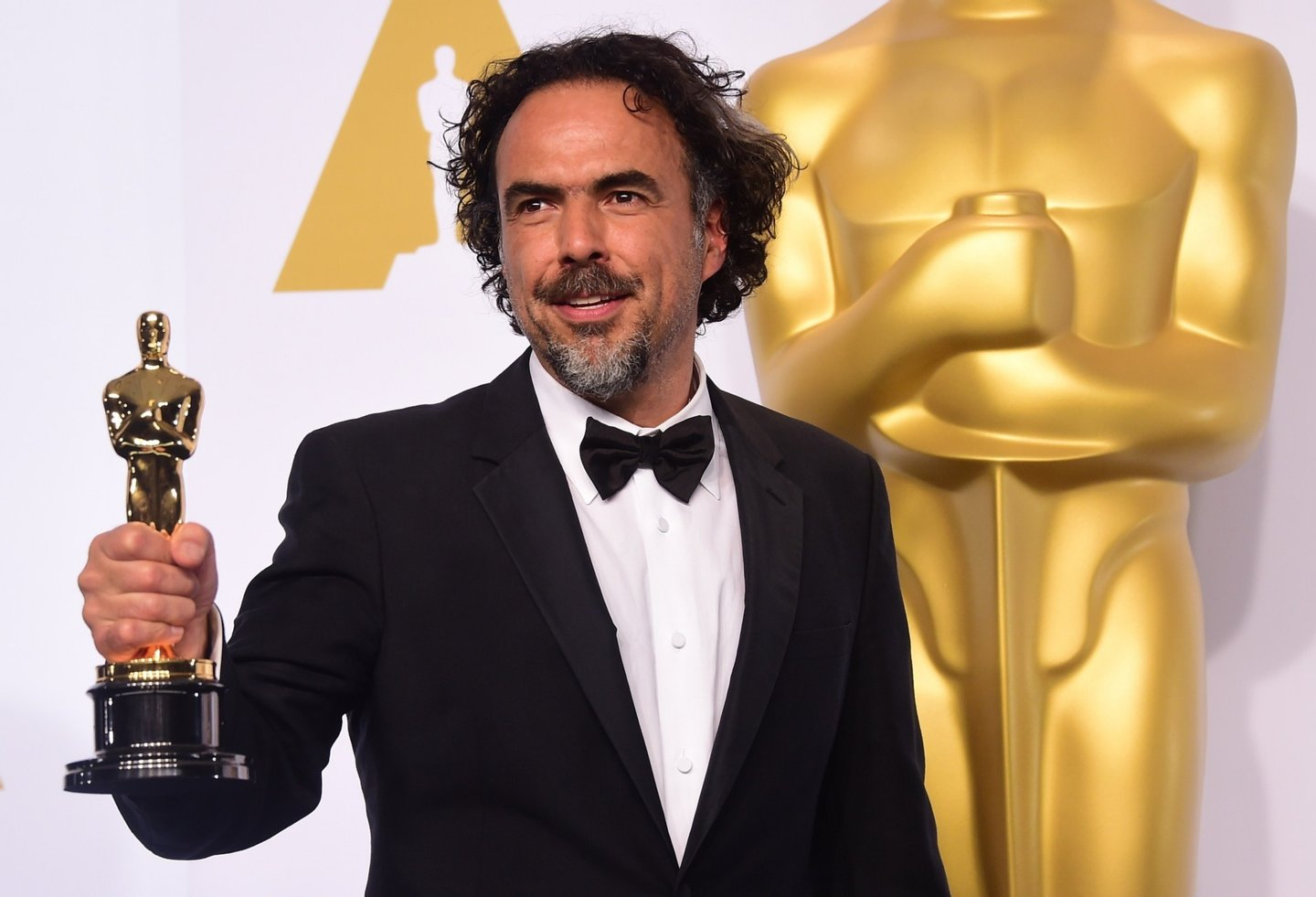 "Director Alejandro Gonzalez Inarritu, winner for the Best Picture award for ""Birdman"" poses in the press room during the 87th Oscars on February 22, 2015 in Hollywood, California. AFP PHOTO / FREDERIC J. BROWN        (Photo credit should read FREDERIC J. BROWN/AFP/Getty Images)"