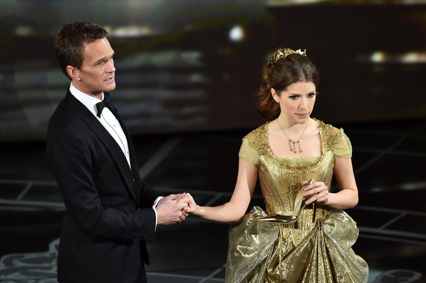 HOLLYWOOD, CA - FEBRUARY 22:  Host Neil Patrick Harris and Anna Kendrick perform onstage during the 87th Annual Academy Awards at Dolby Theatre on February 22, 2015 in Hollywood, California.  (Photo by Kevin Winter/Getty Images)