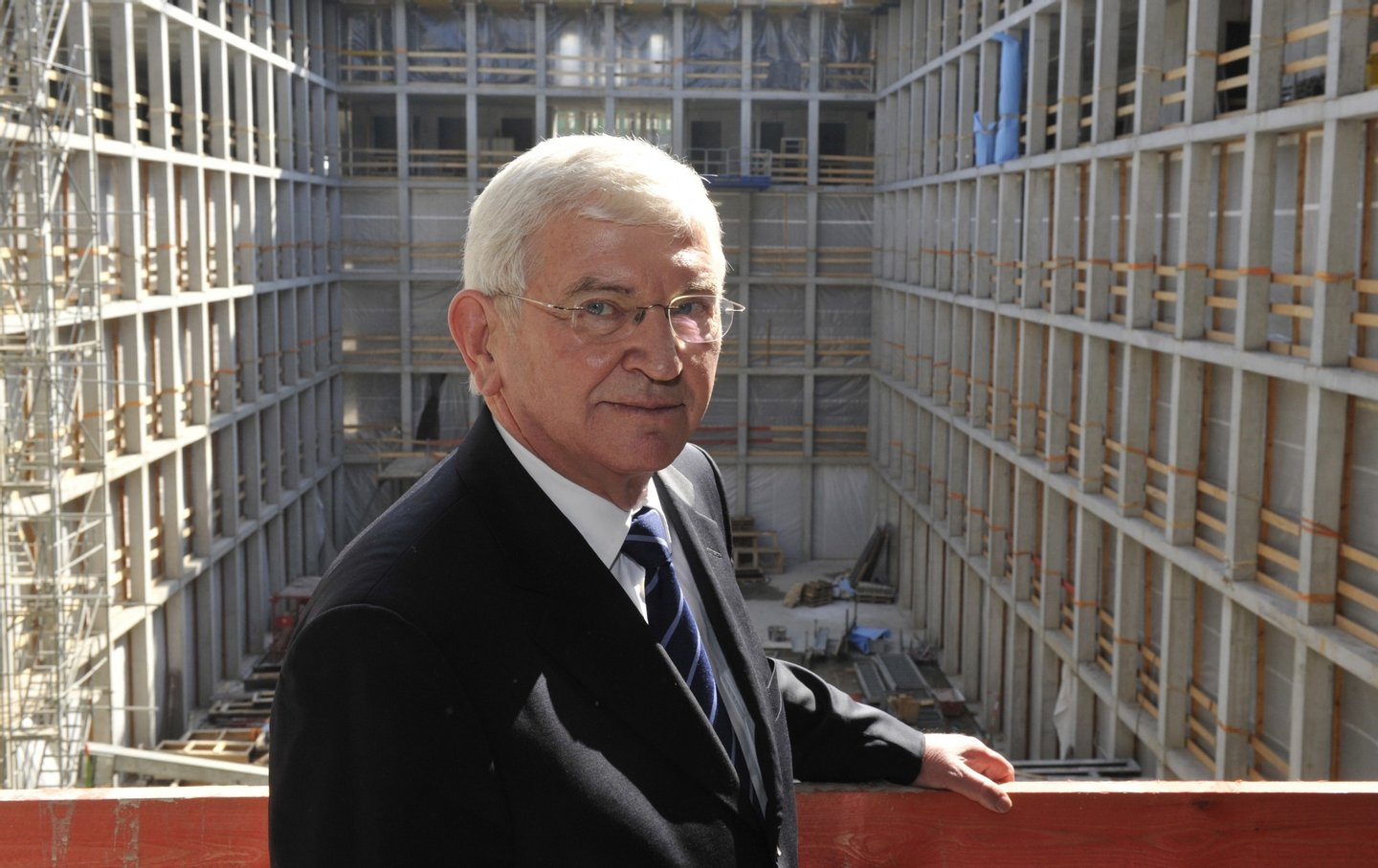 Ernst Uhrlau, head of the German intelligence service, the BND, poses for photographers as he attended a topping-out ceremony for the new German Intelligence service building March 25, 2010 in Berlin. The new headquarters, located in the city's heart, will cost approximately 1.5 billion euros and is expected to be completed by 2014. AFP PHOTO / JOHN MACDOUGALL (Photo credit should read JOHN MACDOUGALL/AFP/Getty Images)