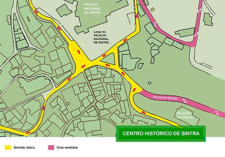 Mapa De Localização De Pontos De Vetor Localização De: Câmara De Sintra Cria Sentido único No Acesso Ao Centro