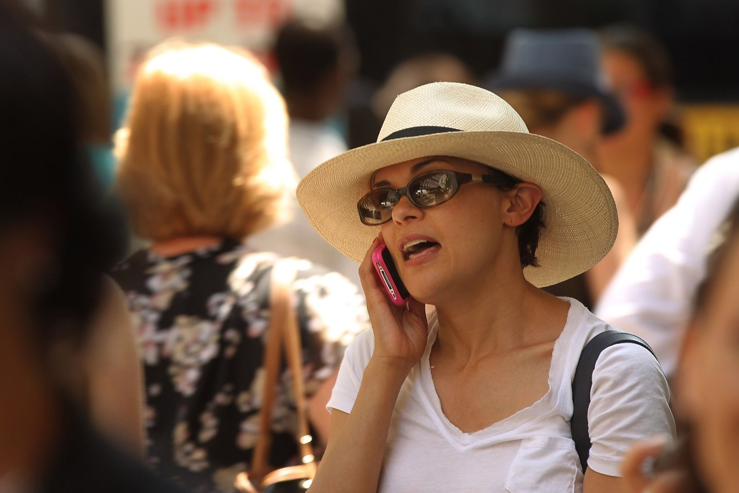 NEW YORK, NY - MAY 31:  A woman speaks on her mobile phone on May 31, 2011 in New York City.  In a new report by 31 scientists meeting at the World Health Organization's International Agency for Research on Cancer (WHO/IARC) it was found that using a mobile phone may increase your risk for certain kinds of brain cancers. While further scientific work will be conducted, the group of scientists from 14 countries classified cell phones in the carcinogenic category 2B, which is similar to the pesticide DDT and gasoline engine exhaust.  (Photo by Spencer Platt/Getty Images)