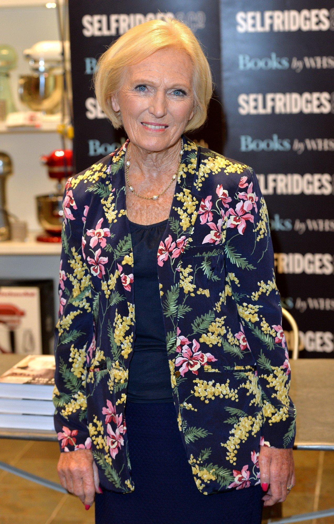 "LONDON, ENGLAND - SEPTEMBER 05:  Mary Berry meets fans and signs copies of her new cook book ""Mary Berry Cooks The Perfect Step by Step"" at Selfridges on September 5, 2014 in London, England.  (Photo by Anthony Harvey/Getty Images)"