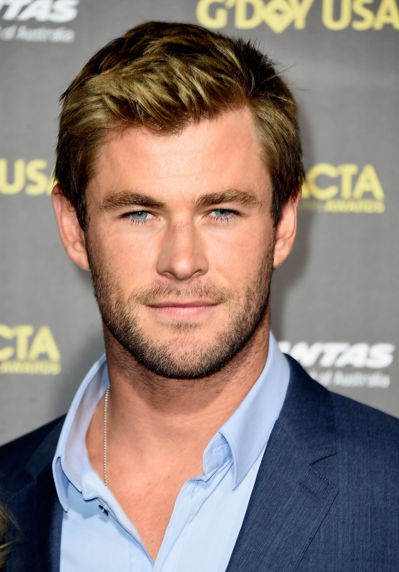 LOS ANGELES, CA - JANUARY 31:  Actor Chris Hemsworth arrives at the 2015 G'Day USA Gala Featuring The AACTA International Awards Presented By QANTAS at the Hollywood Palladium on January 31, 2015 in Los Angeles, California.  (Photo by Frazer Harrison/Getty Images)