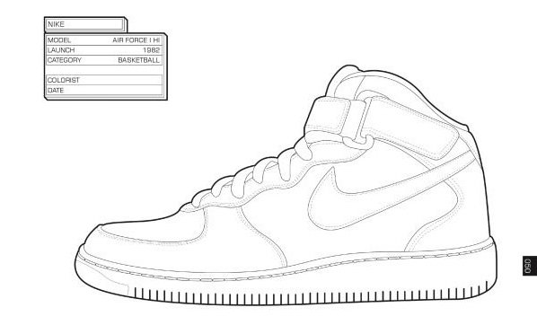 The Sneaker Coloring Book air force 1