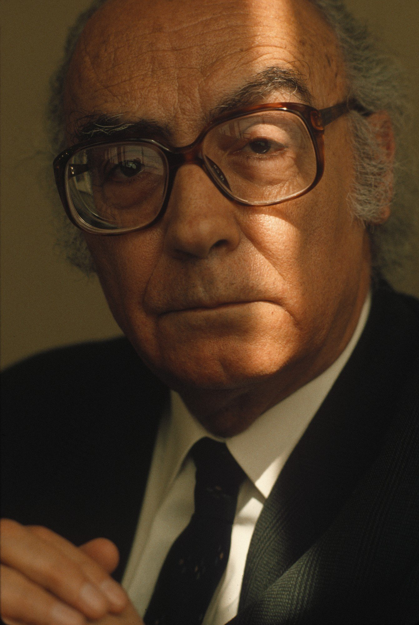 Portrait of José Saramago, writer.  (Photo by Francis Tsang/Cover/Getty Images)