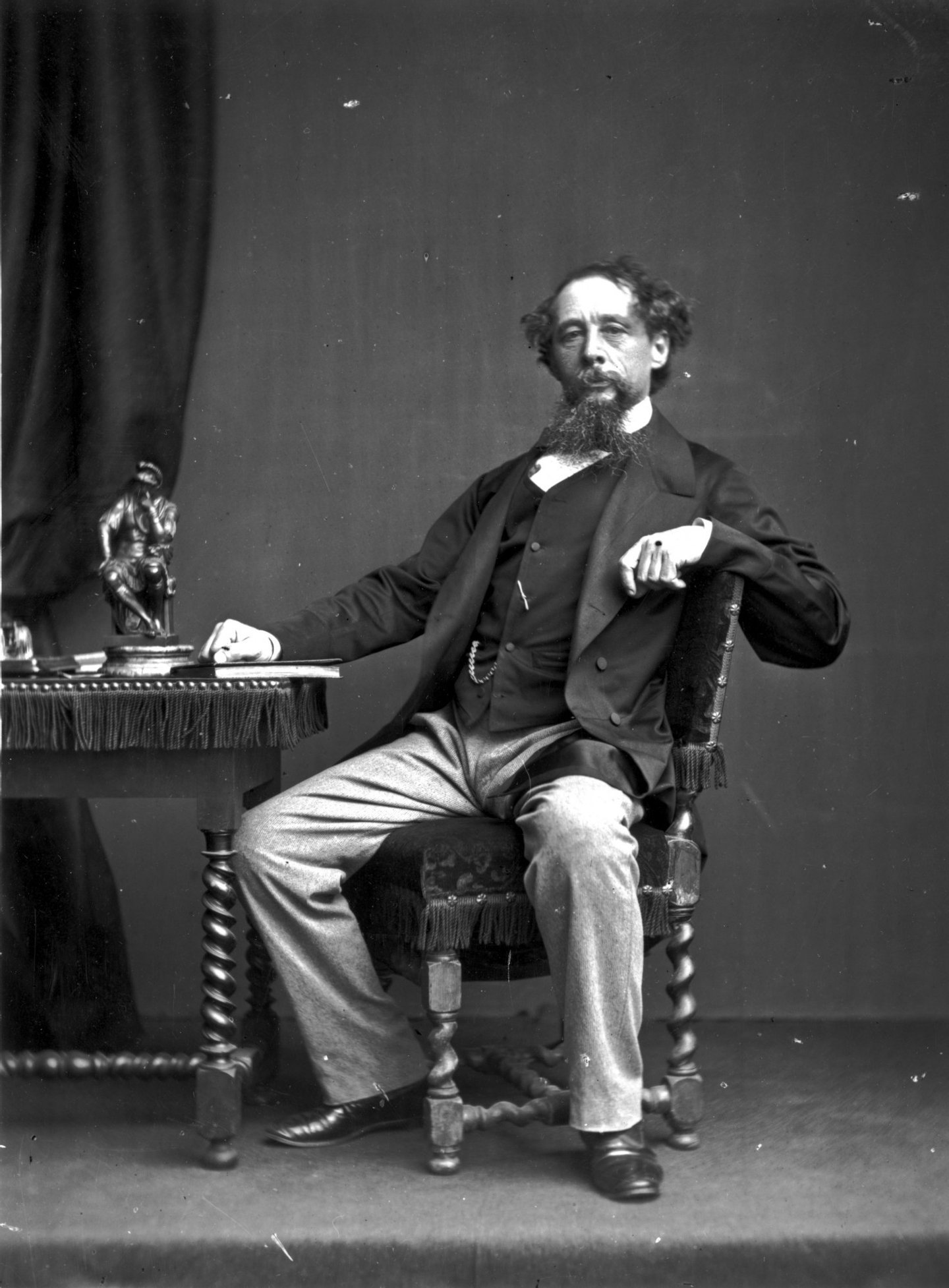format, portrait;ornament;male;facial, hair;sitting;Roles, &, Occupations;Personality;English;British;P, 9978, BOX, 78, 1/4;P/DICKENS/CHARLES/ENGLISH, NOVELIST/1812-1870,