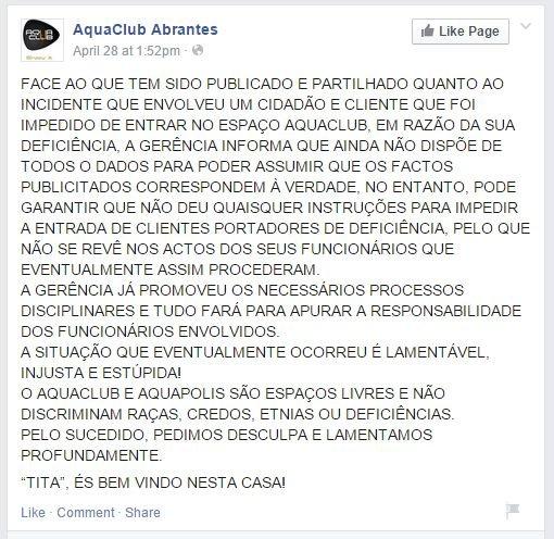 AquaClub-Comunicado