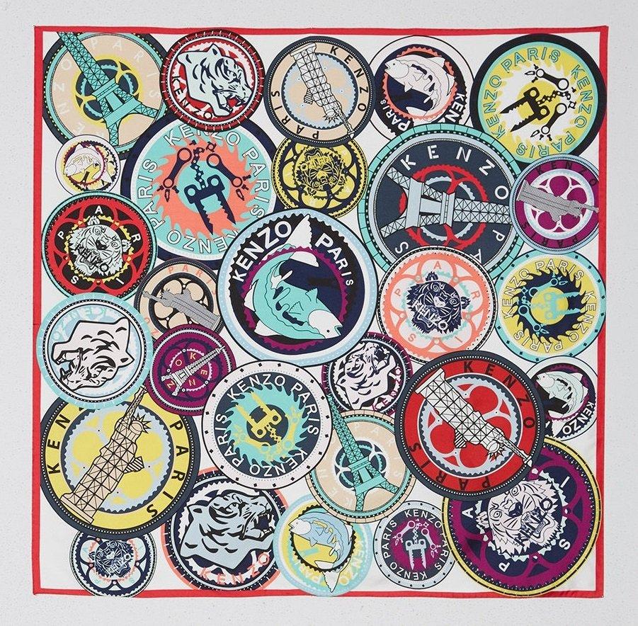lenço emblema kenzo
