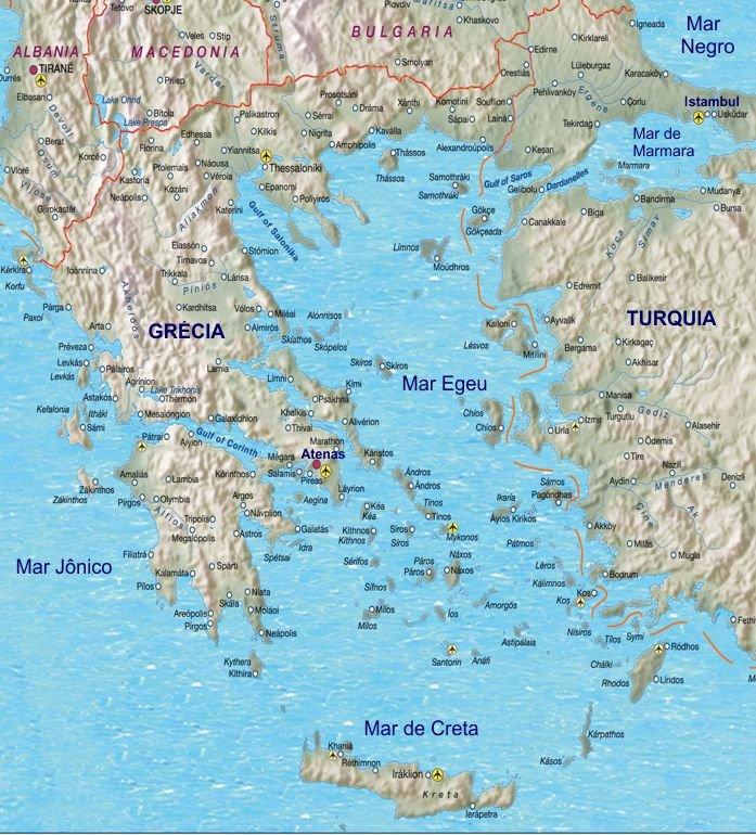 mapa da grecia e suas ilhas As dezanove melhores ilhas gregas – Observador mapa da grecia e suas ilhas
