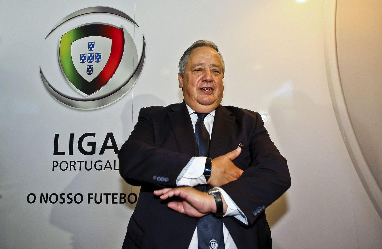 Porto, 23/07/2015 - Entrega das listas da candidatura à Presidência da Liga Portuguesa de Futebol Profissional, na sede da Liga no Porto. Luis Duque, candidato à Presidência da Liga Portuguesa de Futebol Profissional. ( Global Imagens )
