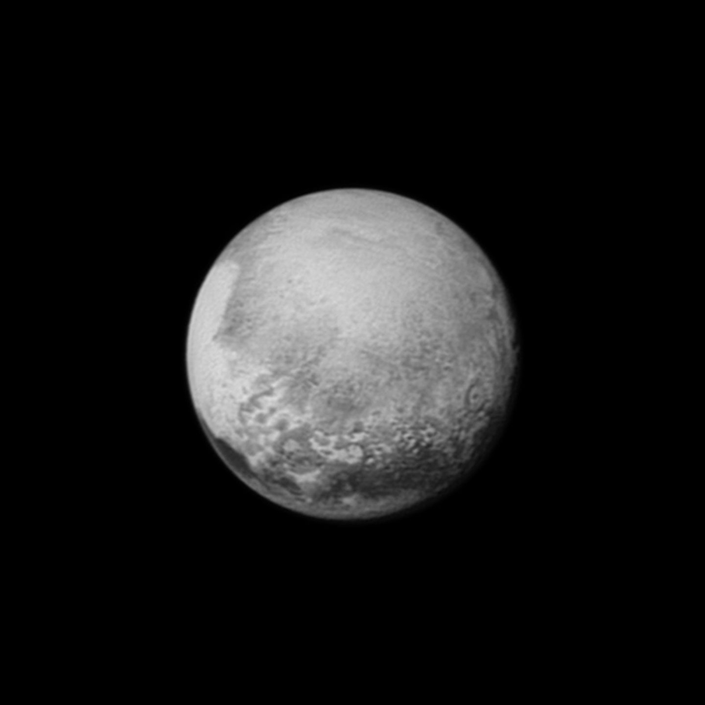 New Horizons estava a 2,5 milhões de quilómetros de Plutão quando captou esta imagem a 12 de julho -  NASA/Johns Hopkins University Applied Physics Laboratory/Southwest Research Institute