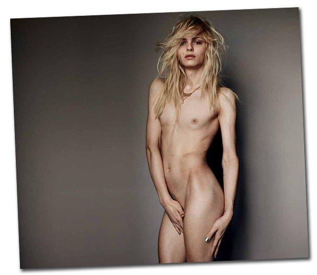 Andrejia Pejic num editrial da Vogue Brasil