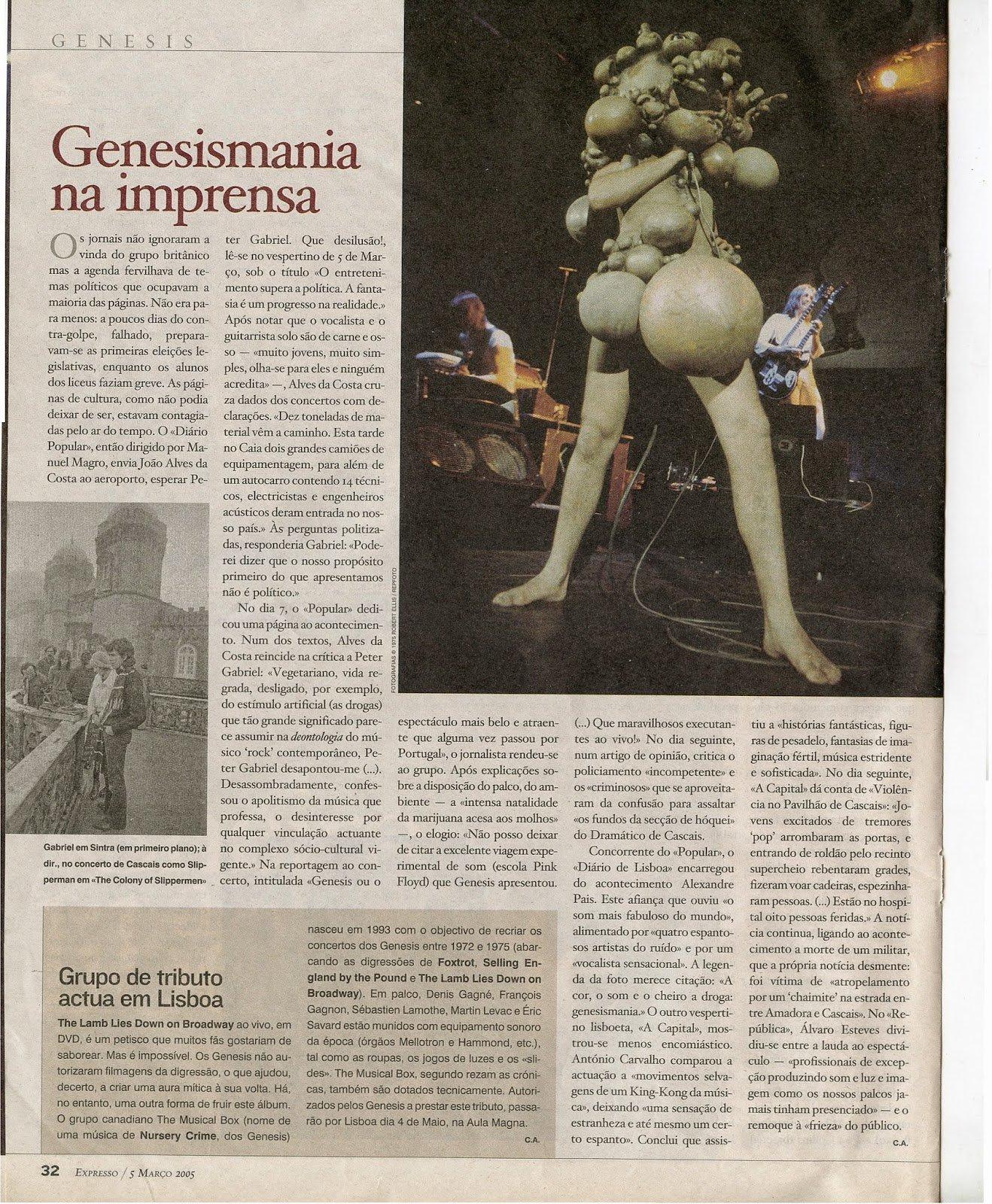 página 32 do jornal Expresso, 5 Março 2005