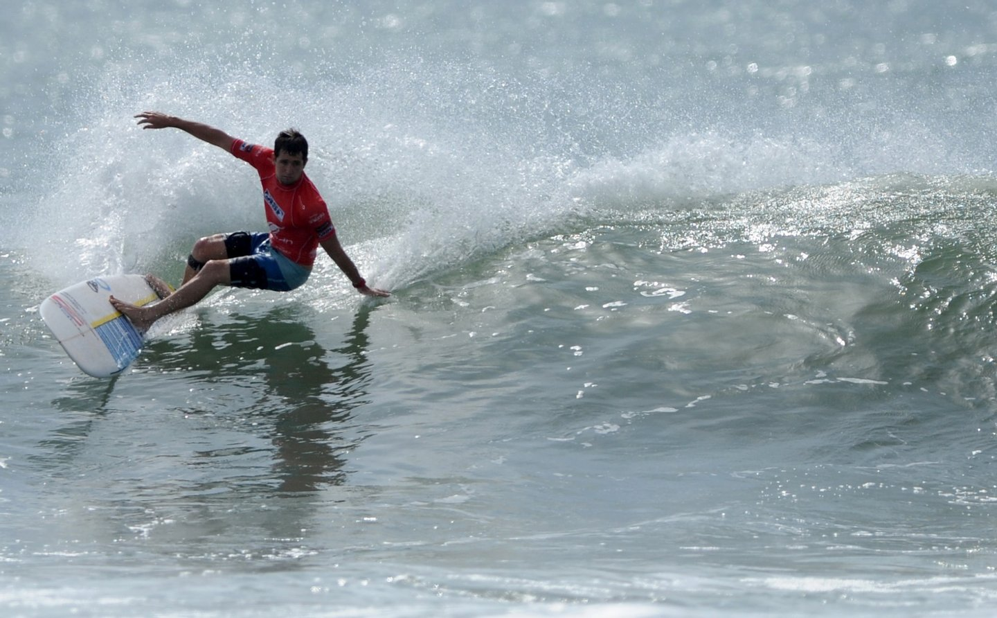 Harley Ingleby of Australia  surfs a wave during an international surfing event at Sri Lanka's eastern coastal resort of Arugam bay on September 4, 2011. With surfers from the UK, USA, Hawaii, Netherlands, South Africa, France, Japan and Brazil the competition aims to promote the country's east, which was once plagued by the Tamil rebellion, as a major tourist attraction. AFP PHOTO/ Ishara S.KODIKARA (Photo credit should read Ishara S.KODIKARA/AFP/Getty Images)