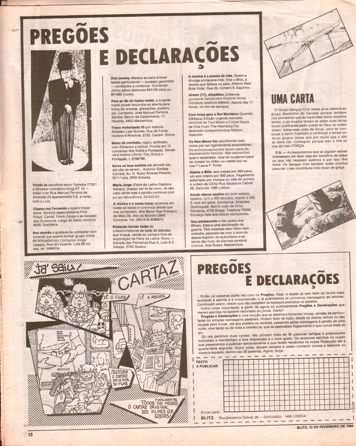 Blitz, dia 12 de fevereiro de 1982