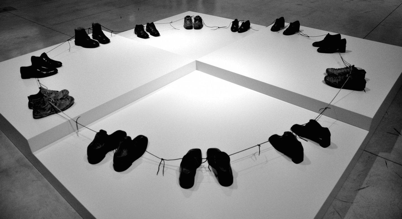 Sigalit Landau, Islands of Shoes, 2013