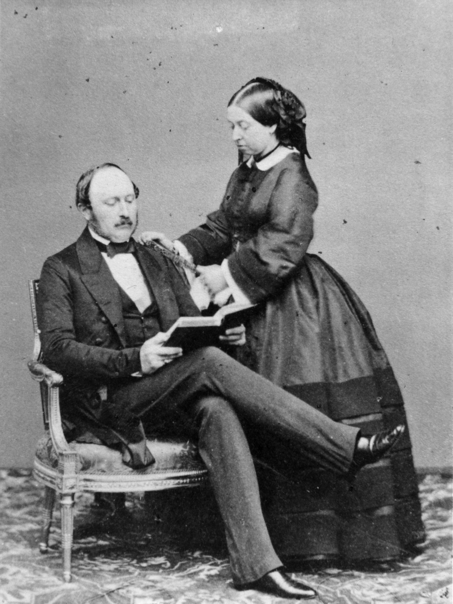 15th May 1860: Queen Victoria and her beloved Prince Albert, the Prince Consort, at Buckingham Palace. (Photo by Keystone/Getty Images)