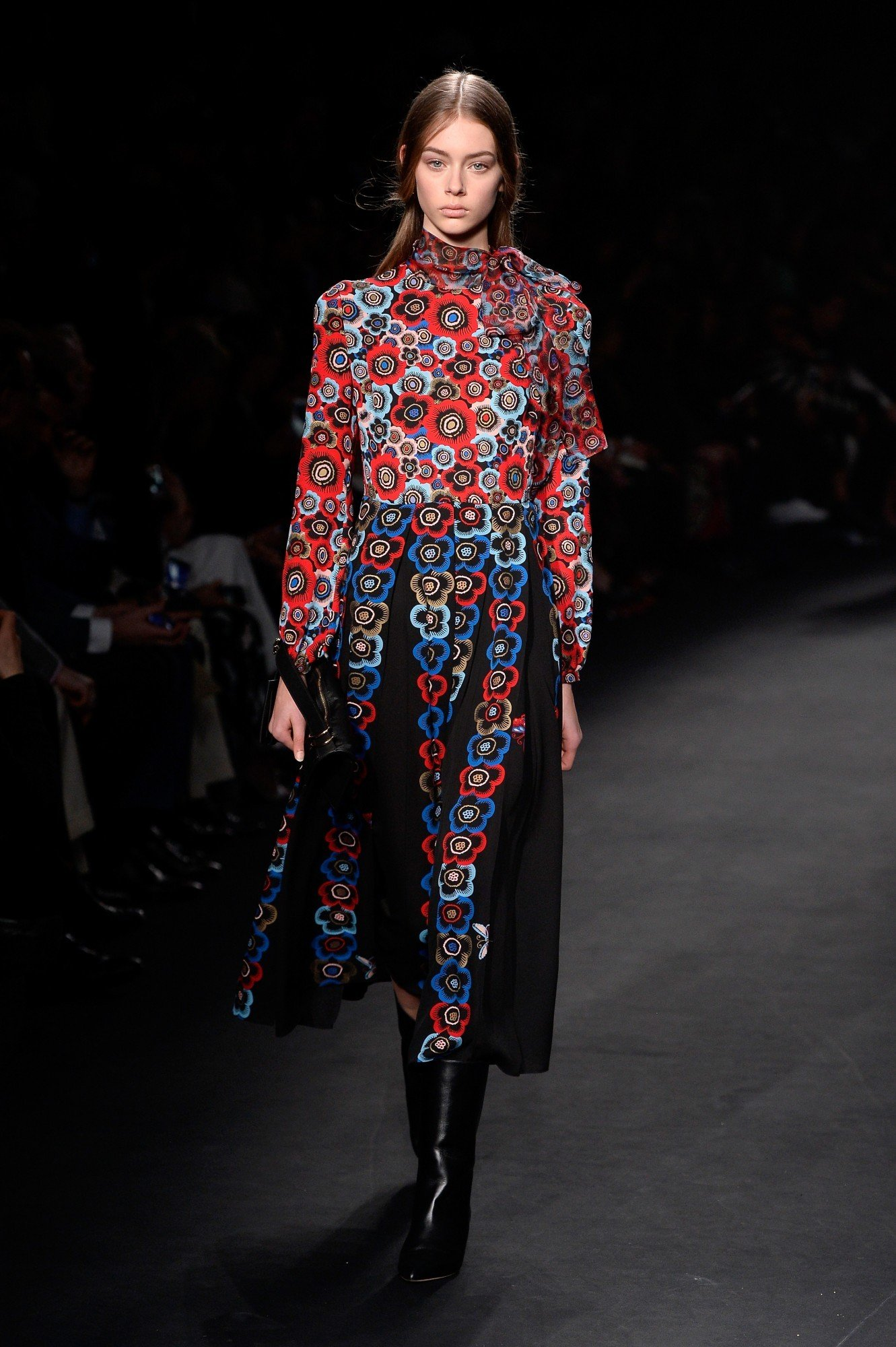 A model walks the runway during the Valentino show as part of the Paris Fashion Week Womenswear Fall/Winter 2015/2016 on March 10, 2015 in Paris, France.