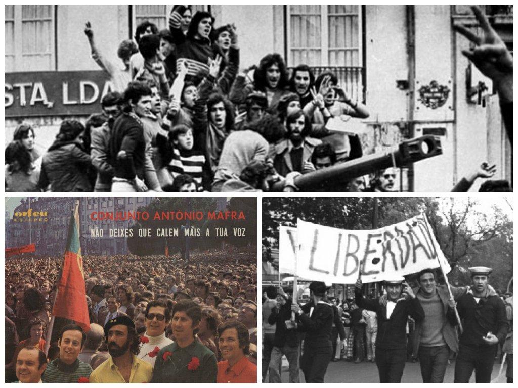 10. Às manifestações dos primeiros meses posteriores ao 25 de Abril todos aderem. Mas as divisões não tardariam