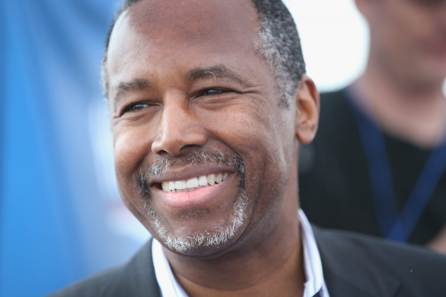 BOONE, IA - JUNE 06: Republican presidential hopeful Dr. Ben Carson speaks at a Roast and Ride event hosted by freshman Senator Joni Ernst (R-IA) on June 6, 2015 in Boone, Iowa. Ernst is hoping the event, which featured a motorcycle tour, a pig roast, and speeches from several 2016 presidential hopefuls, becomes an Iowa Republican tradition. (Photo by Scott Olson/Getty Images)