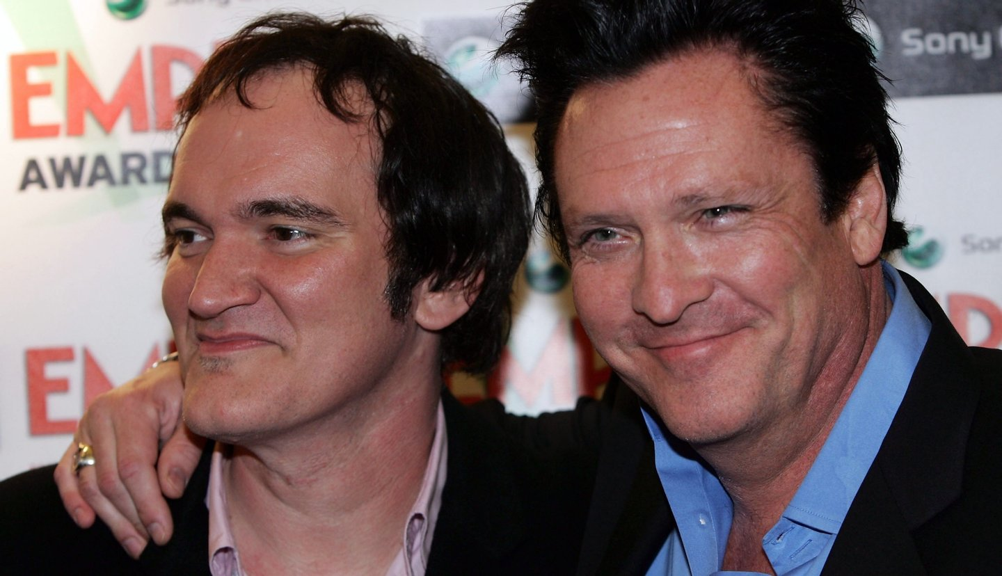 LONDON - MARCH 13: Director Quentin Tarantino and actor Michael Madsen arrive at the Sony Ericsson Empire Film Awards 2005 at Guildhall on March 13, 2005 in London. The annual film awards are organised by Empire magazine and winners are voted for by the public. (Photo by Gareth Cattermole/Getty Images)
