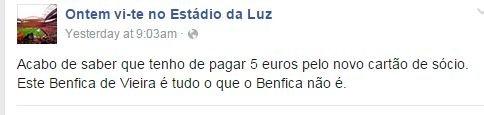 Benfica - cartão de sócio