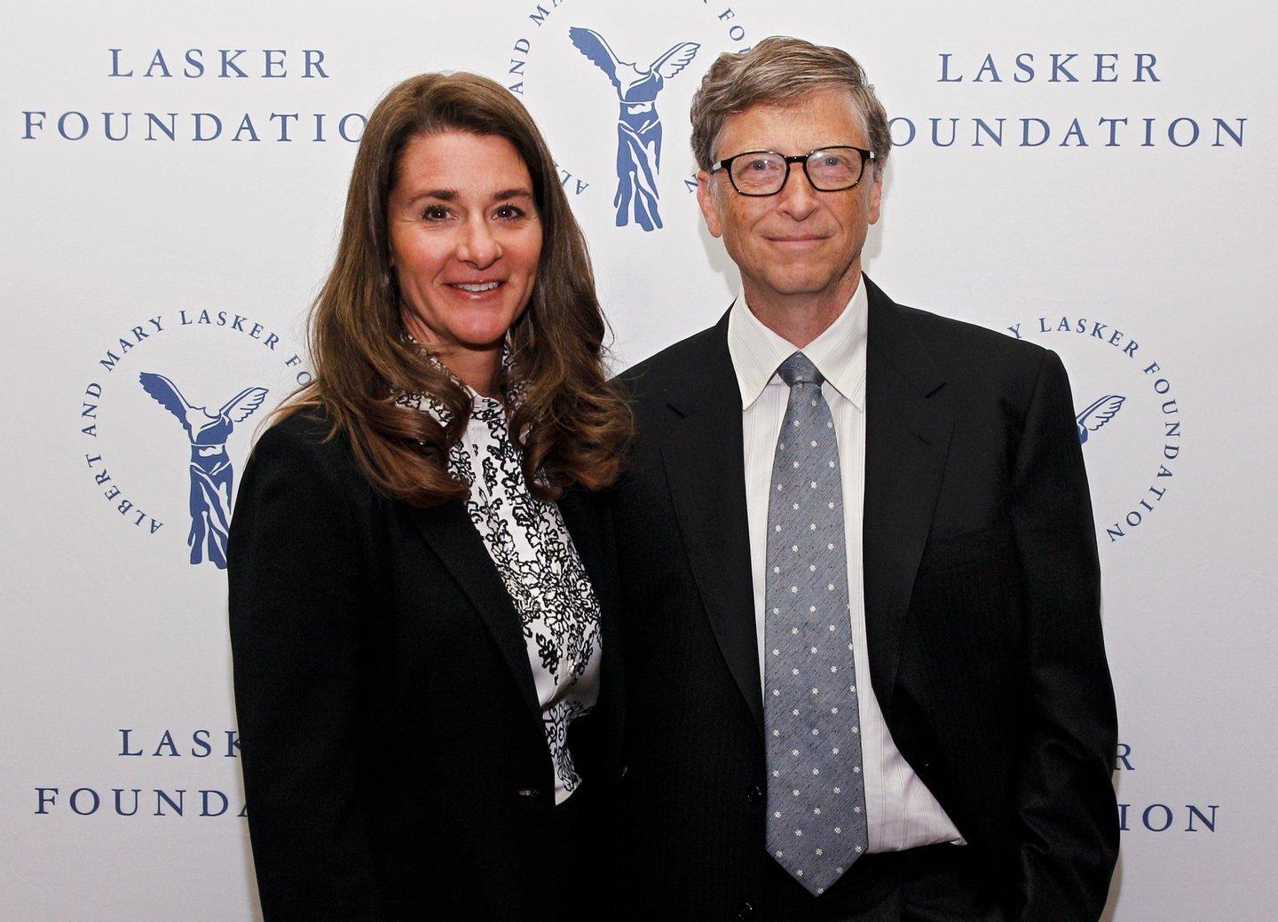 NEW YORK, NY - SEPTEMBER 20: Melinda Gates and Bill Gates of the Gates Foundation, winners of the Public Service Award, are seen during the The Lasker Awards 2013 on September 20, 2013 in New York City. (Photo by Brian Ach/Getty Images for The Lasker Foundation)