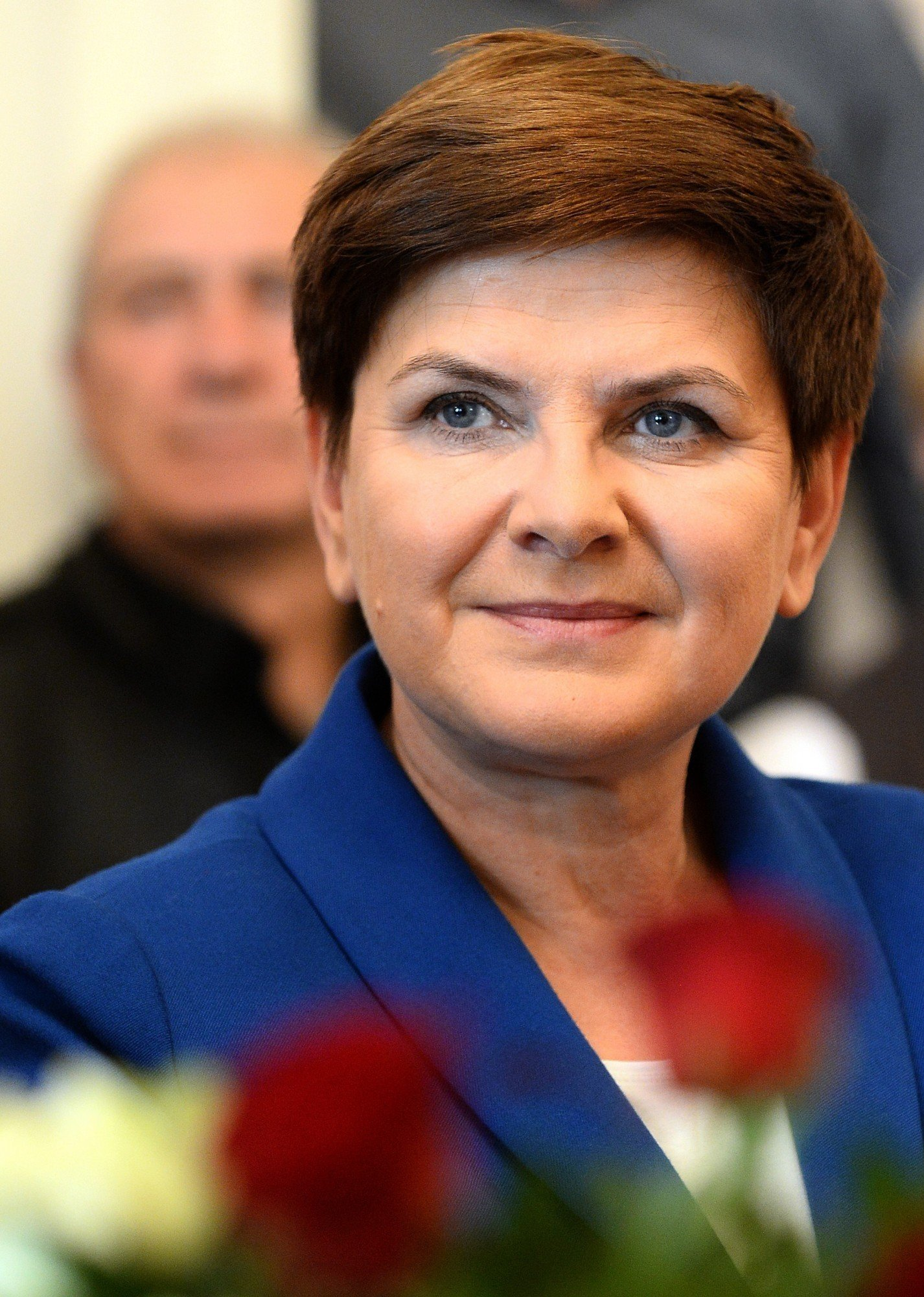Poland's main opposition Law and Justice party (PiS) candidate for the prime minister's post, Beata Szydlo is pictured during a campaign meeting in Warsaw on October 17, 2015. AFP PHOTO / JANEK SKARZYNSKI (Photo credit should read JANEK SKARZYNSKI/AFP/Getty Images)