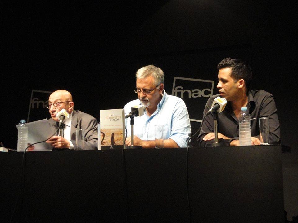 Com Rentes de Carvalho e Francisco José Viegas no lançamento de As Primeiras Coisas, em 2014