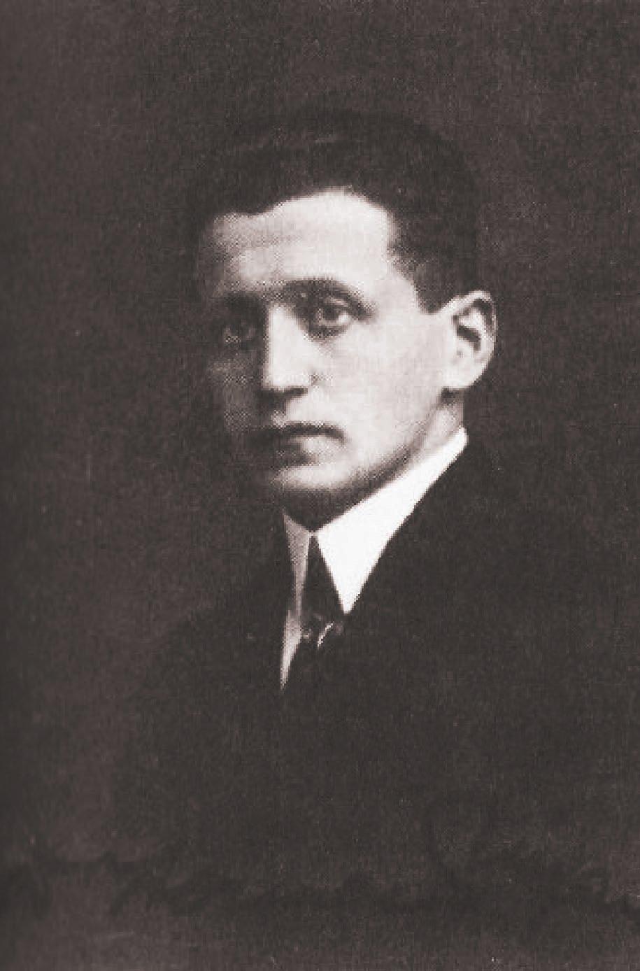 Hermann Ungar em 1919, durante o período em que trabalhava num banco