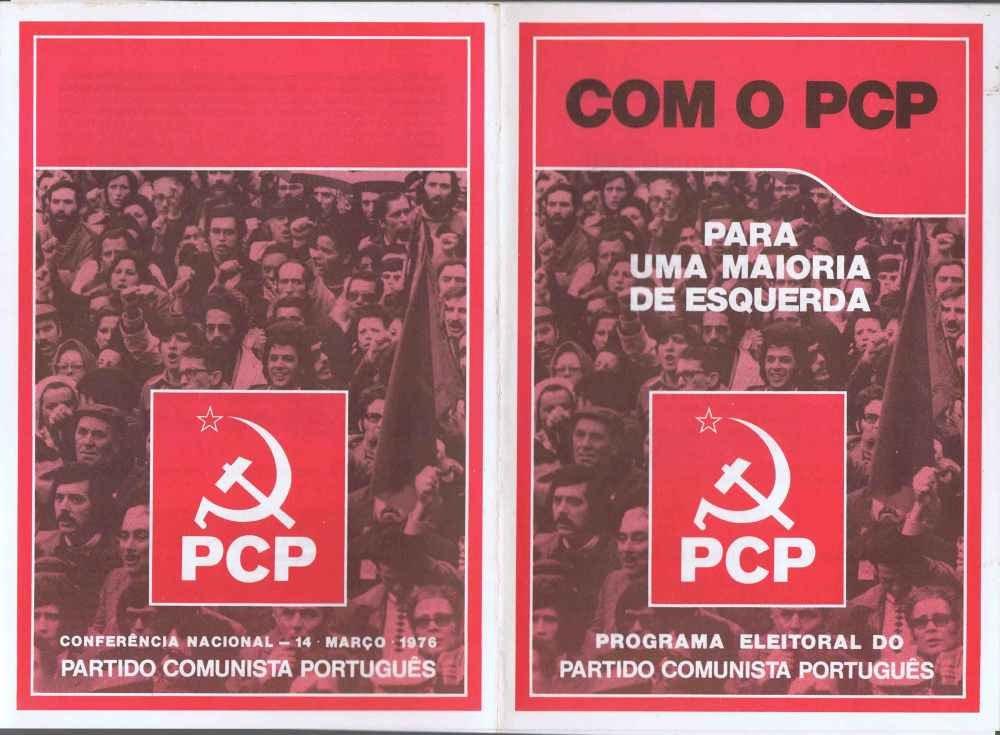 Capa do Programa Eleitoral do PCP nas primeiras eleições legislativas, Abril de 1976