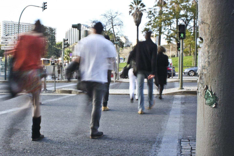 Lisboa,10/01/2013 - Passagem de peões que foi fechada pela câmara municipal na reorganização de tráfego da rotunda do Marquês de Pombal. Alguns dias depois do fecho a passadeira voltou a ser aberta e foram colocados semáforos. (Ricardo Gonçalves / Global Imagens)