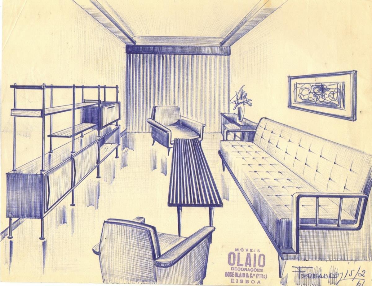 desenho sala de estar